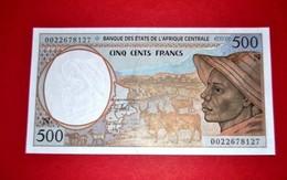 """CENTRAL AFRICAN ST """"N"""" 500 FRANCS 2000 P-501Ng UNC - États D'Afrique Centrale"""