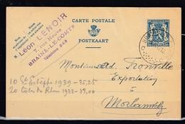 Postkaart Van Braine Le Comte C Naar Morlanwelz - 1935-1949 Petit Sceau De L'Etat