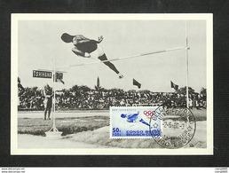 CONGO BELGE - BELGISCH CONGO - Carte MAXIMUM 1960 - PRO JUVENTUTE - SAUT EN HAUTEUR - Belgisch-Kongo