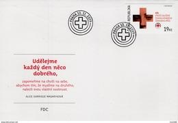 2019 : FDC Centenaire De La Croix Rouge Tchécoslovaque / 100 Years Red Cross - FDC
