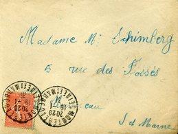 MONTEREAU SEINE ET MARNE 1931 Timbre à Date Sur 50c Semeuse Lignée S Pour Montereau - Postmark Collection (Covers)