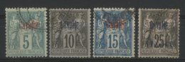 CAVALLE (KAVALA) / BUREAU FRANCAIS Cote 112 € N° 1 + 3 + 5 + 6. 4 Valeurs Au Type Sage. TB - Gebraucht