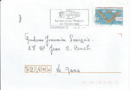 YT 3581 De 2003 - Franc-maçonnerie Française Sur Env. Entière - Oblitération Mécanique Flamme De Marmande - Storia Postale