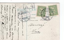 Nederlands-Indië - Magelang - Sabang 21.8.19 Voorzijde: Ss Vondel - Poststempels/ Marcofilie