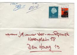 Spoorwegzegel 25 Cent - Den Haag - Bijplak Bij 18 Cent 1965 - Marcophilie