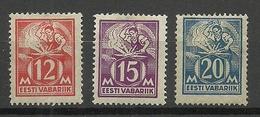 ESTLAND Estonia 1925 Michel 57 - 59 * - Estonia