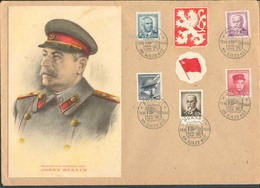 CSR 28.3.46 Marschall Josef Stalin Gemäldekarte Sonderstempel 8.Kongress KSC - Autres