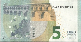 ! 5 Euro , M005H5, MA2487308168 Currency, Banknote, Billet Mario Draghi, EZB, Europäische Zentralbank - EURO