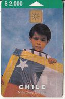 CHILE - Nino Zona Central, Telefonica Telecard $2000, Chip GEM1.2, Tirage 25000, 09/00, Used - Chili