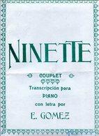 NINETTE COUPLET TRANSCRIPCION PARA PIANO CON LETRA POR E GOMEZ PARTITURA - NTVG. - Partituras