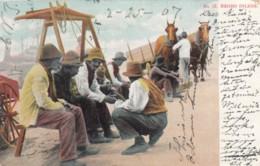 'Negro Idlers' Black Men Sit And Talk C1900s Vintage Postcard - Black Americana