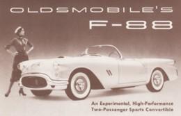 Oldsmobile F-88 Experimental Convertible Auto Advertisement C1950s Vintage Postcard - Passenger Cars