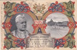 Pope Pius X C1900s Vintage Postcard - Popes