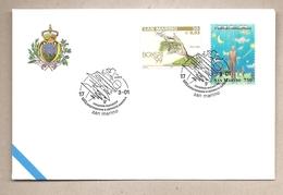 San Marino - Busta Con Annullo Speciale: UFO - Simposio Mondiale - 2001 - FDC & Commemorrativi