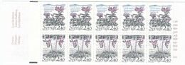Sweden 1989 - Flowers, MH 143, MNH** - Booklets