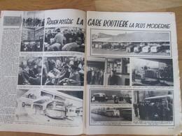 1948 ROUEN La Gare Routière  La Plus Moderne  ROUEN   Bus  Autocar + DOURGES - Vieux Papiers