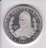 MONEDA DE PLATA DE CUBA DE 10 PESOS AÑO 1990 REINA ISABEL (LA DE LA FOTO) - Cuba