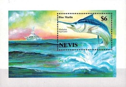 MDN-BK25-084 MINT ¤ NEVIS 1994 BLOCK ¤ MARINELIFE - FISH - SEALIFE - UNDERWATER WORLD - Fishes
