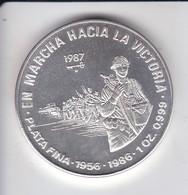 MONEDA DE PLATA DE CUBA DE 10 PESOS AÑO 1987 MARCHA HACIA LA VICTORIA (LA DE LA FOTO) - Cuba