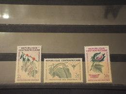 CENTRAFRICAINE - 1965 PIANTE/INSETTO 3 VALORI - NUOVI(++) - Repubblica Centroafricana