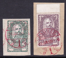 Slovenia, Chainbreakers, 15 And 20 K., CTO On Piece, Red Cancellation - Usati