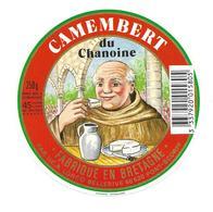 ETIQUETTE De FROMAGE..CAMEMBERT Du CHANOINE Fabriqué En BRETAGNE..UCA LORCO BELLERIVE à PONT-SCORFF (56) - Formaggio