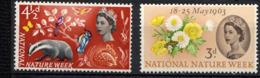 GRANDE-BRETAGNE / GB 1963, Yvert 373/74, Semaine De La Nature, Faune Et Flore, 2 Valeurs, Neufs / Mint. R074 - Nuovi
