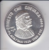 MONEDA DE PLATA DE CUBA DE 20 PESOS AÑO 1987 DE CHE GUEVARA (LA DE LA FOTO) - Cuba