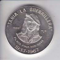 MONEDA DE PLATA DE CUBA DE 20 PESOS AÑO 1988 TANIA LA GUERRILLERA (LA DE LA FOTO) - Cuba