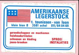 Sticker - Amerikaanse Legerstock - T. Teunissen-Van Loon - Klein Bien Achel - Autocollants