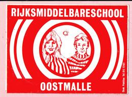 Sticker - RIJKSMIDDELBARESCHOOL - OOSTMALLE - Autocollants