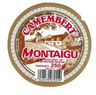 ETIQUETTE De FROMAGE..CAMEMBERT Fabriqué En BRETAGNE ( 56)..Montaigu..distribué Par S.A. SABOURIN à MONTAIGU (85) - Formaggio