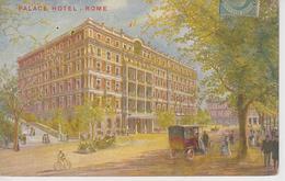 CPA Roma (Rome) - Palace Hotel (carte Dessinée) - Cafés, Hôtels & Restaurants