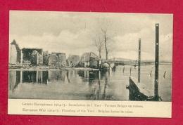 C.P. Ieper =  Oorlog  1914-1918  :  Inondation De  L' Yser :  Fermes  Belges  En  Ruines - Ieper