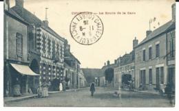CPA - CHUELLES - La Route De La Gare - LOIRET 45 - France