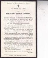MECHELEN LEDE Marie MARIEN 1865-1929 DP Famille VERLINDEN - Esquela