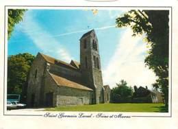 77 - Saint Germain Laval - L'Eglise - Flamme Postale De Montereau - Voir Scans Recto-Verso - Francia