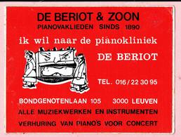 Sticker - DE BERIOT Pianovaklieden - Bondgenotenlaan Leuven - PIANO'S - Autocollants