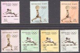 "1964-(MNH=**) Haiti S.7v.""Olimpiadi Di Tokyo"" - Haïti"