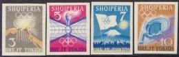 """1964-(MNH=**) Albania S.4v.non Dentellati """" Olimpiadi Di Tokyo"""" - Albania"""