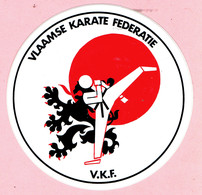 Sticker - VLAAMSE KARATE FEDERATIE - V.K.F. - Autocollants