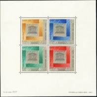 """1966-(MNH=**) Laos Foglietto S.4v.""""20 Anniversario Dell'Unesco"""" - Laos"""