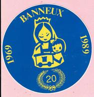 Sticker - 20 Jaar BANNEUX - 1969 1989 - Autocollants