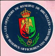 Sticker - DE RESERVE OFFICIEREN VAN BRUSSEL - R.O. - LES OFFICIERS DE RESERVE DE BRUXELLES - Autocollants