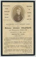 Souvenir Mortuaire. Madame Adolphe Delafraye Née Étiennette Dehaye Décédée Le 1er Mai 1888. - Imágenes Religiosas