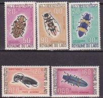 "1968-(MNH=**) Laos S.5v.""insetti""catalogo Yvert Euro 10 - Laos"