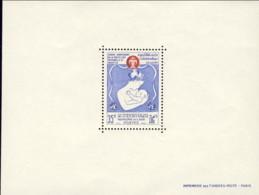 """1965-(MNH=**) Laos Foglietto S.1v.""""VI Anniversario Della Protezione Materna E Infantile""""catalogo Yvert Euro 5,5 - Laos"""