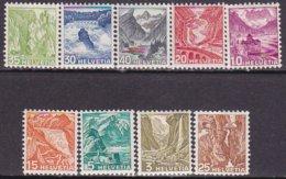 """1936-(MLH=*) Svizzera S.9v.con TL (light Hinge) """"vedute""""catalogo Unificato Euro 45 - Nuovi"""