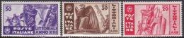 """1935-(MNH=**) Italia S.3v.""""Littoriali Della Cultura E Dell'arte""""cat.Sassone Euro 25 - 1900-44 Victor Emmanuel III"""