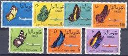 "1961-(MNH=**) Somalia Posta Aerea S.7v.""Farfalle,aereo""catalogo Euro 30 Gomma Bicolore (gum Yellowish!) - Somalia (1960-...)"